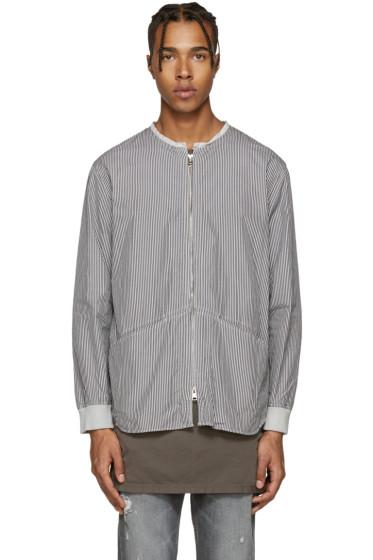 Diet Butcher Slim Skin - Grey Zippered Shirt