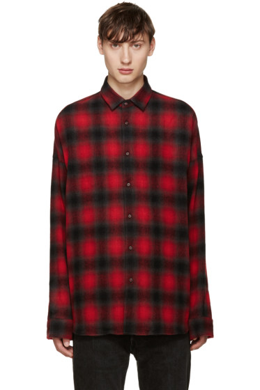 Johnlawrencesullivan - Red Plaid Flannel Shirt