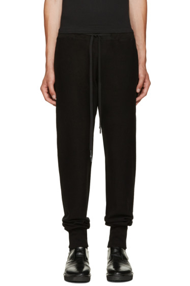 Nude:mm - Black Cotton Lounge Pants