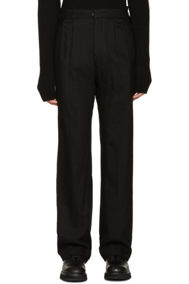 Nude:mm - Black Wool Cinched Trousers