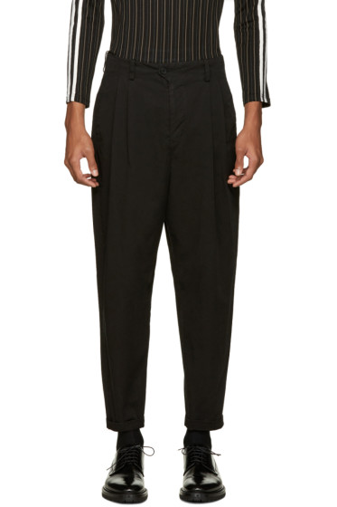 Undecorated Man - Black Wide-Leg Trousers