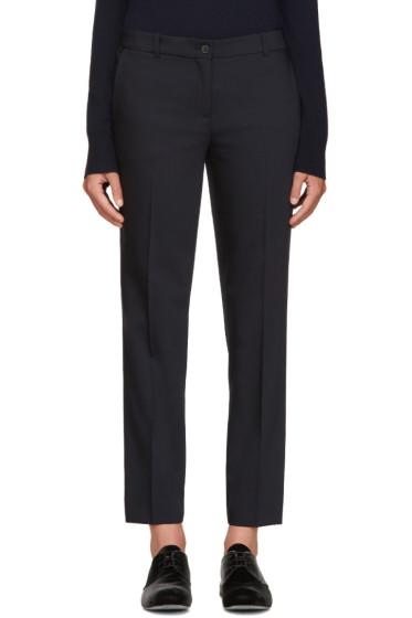 Jil Sander Navy - Navy Wool Trousers