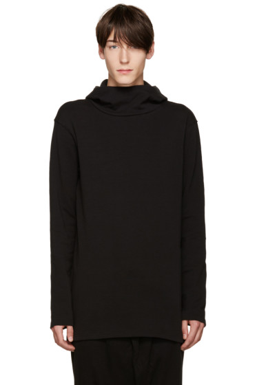 D by D - Black High Neck Hoodie