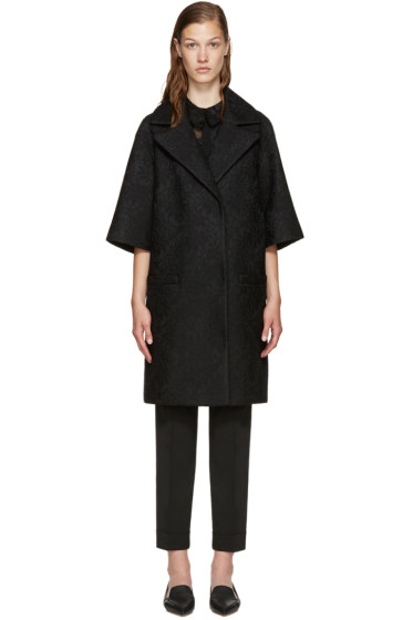 Erdem - Black Mesh Lace Coat