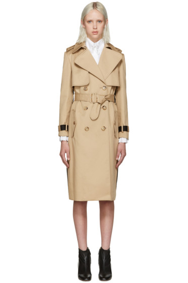 Erdem - Beige & Black Meira Trench Coat