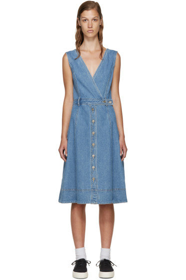 SJYP - Blue Denim Buttoned Dress