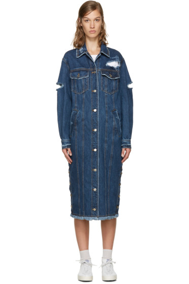 SJYP - Indigo Long Denim Jacket