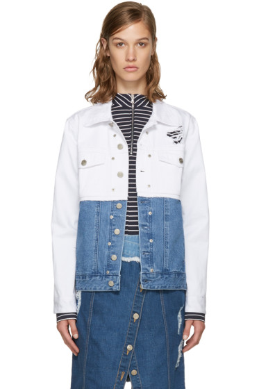 SJYP - White Denim 'Blue Is My Name' Jacket