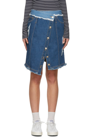 SJYP - Blue Denim Wrap Skirt