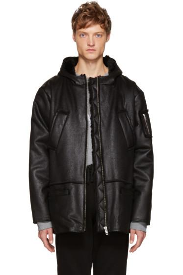 Gosha Rubchinskiy - Black Faux-Shearling Jacket