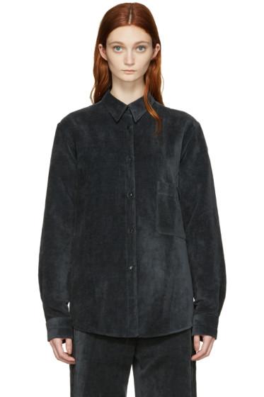 Lemaire - Black Velvet Shirt