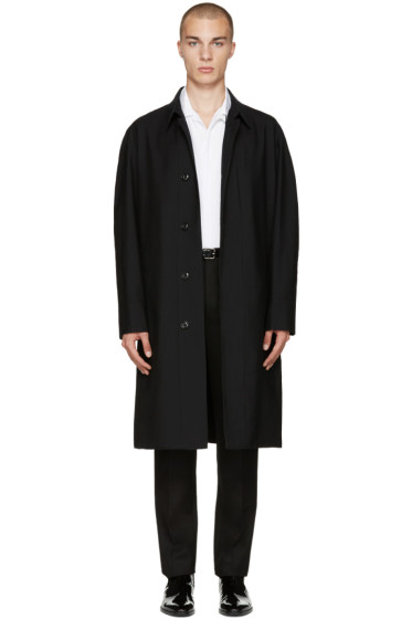 Lemaire - Black Wool Overcoat