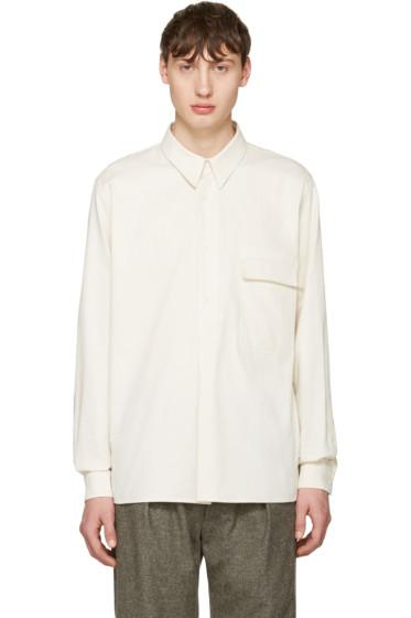 Lemaire - Ivory Twill Overshirt