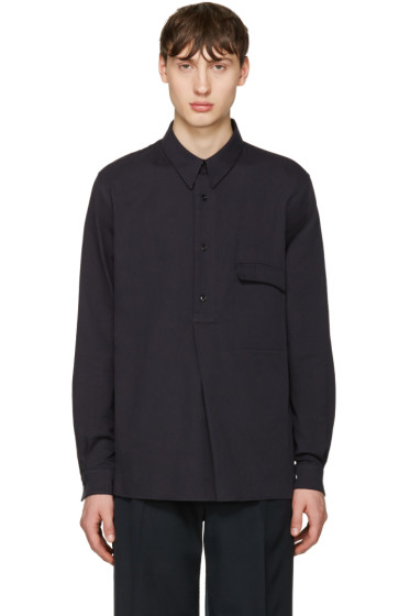 Lemaire - Navy Twill Overshirt