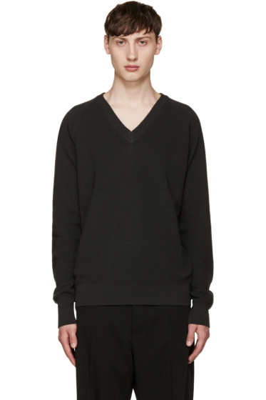 Lemaire - Grey V-Neck Sweater