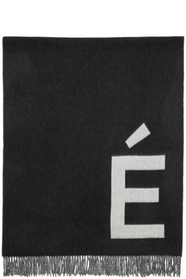Etudes - White & Grey Accent Scarf