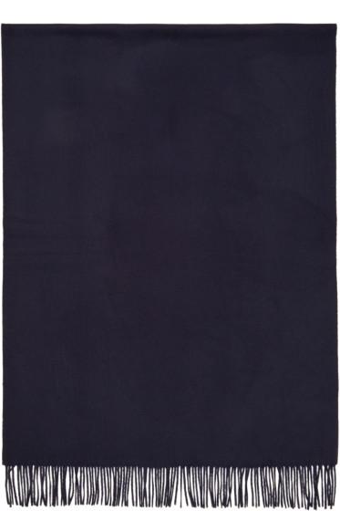 Etudes - Navy Magnolia Scarf