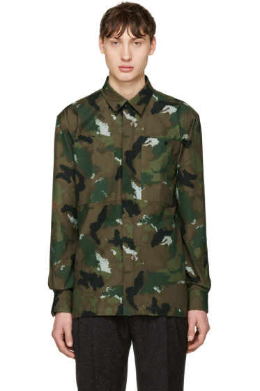 Etudes - Green Camo Record Shirt