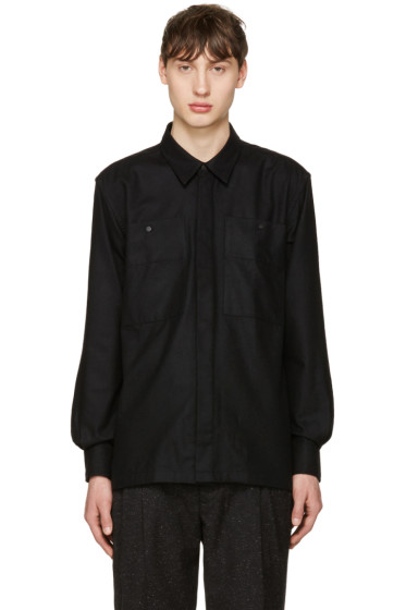 Etudes - Black Wool Record Shirt