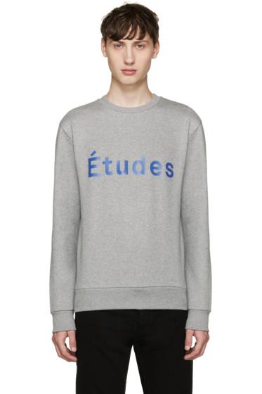 Etudes - Grey Etoile Logo Sweatshirt
