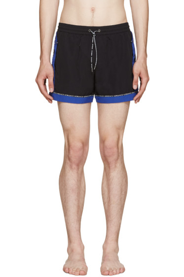 Versace Underwear - Black & Blue Swim Shorts