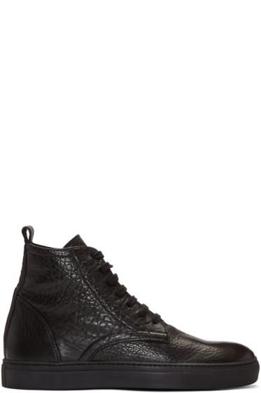 AD Ann Demeulemeester - Black Arid High-Top Sneakers