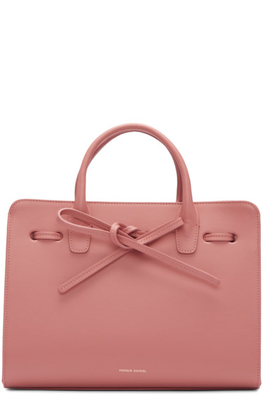 Mansur Gavriel - Pink Leather Mini Sun Tote