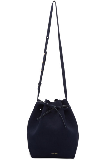 Mansur Gavriel - Navy Suede Bucket Bag