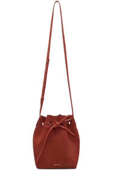 Mansur Gavriel - Red Suede Mini Bucket Bag