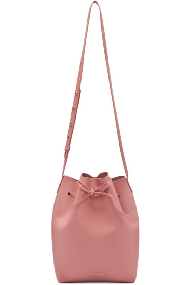 Mansur Gavriel - Pink Leather Bucket Bag