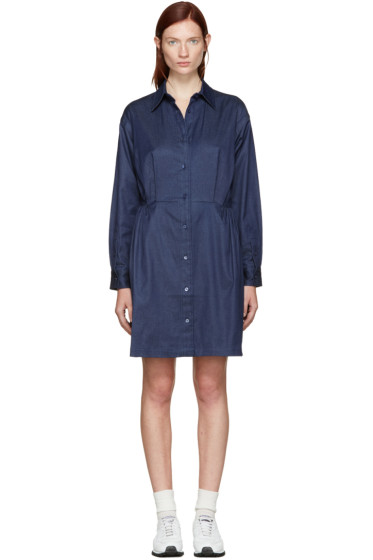 Edit - Blue Chambray Shirt Dress