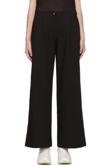 Edit - Black Wide-Leg Trousers