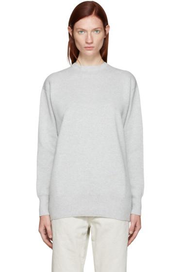 Edit - Grey Tie Back Pullover