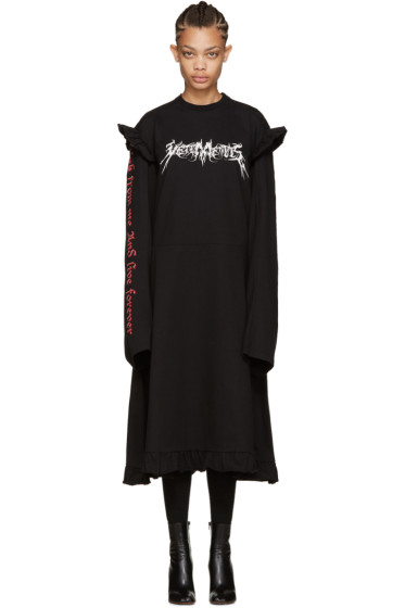 Vetements - Black 70s Logo Dress