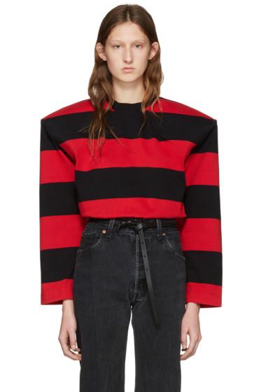 Vetements - Black & Red Football Shoulder T-Shirt