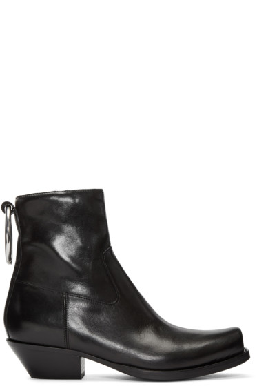 Vetements - Black Cowboy Ring Boots