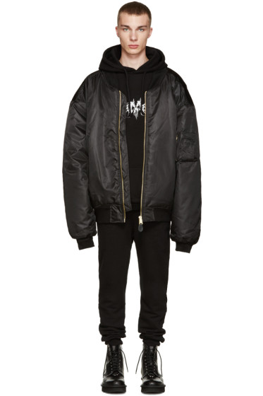 Vetements - Black Oversized Bomber Jacket