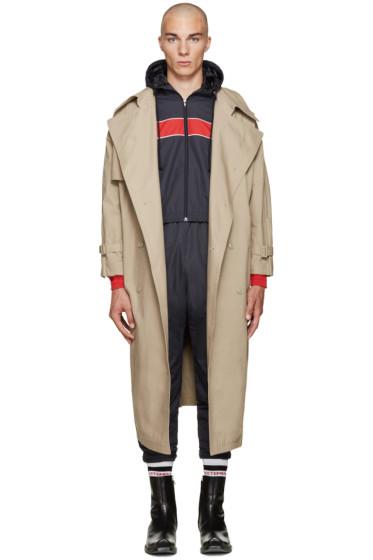 Vetements - Beige Oversized Trench Coat