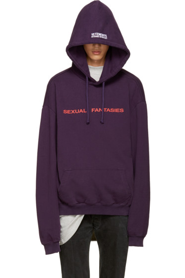 Vetements - Purple 'Sexual Fantasies' Hoodie