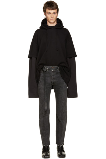 Vetements - Black Layered Hoodie