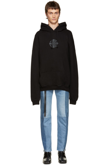 Vetements - SSENSE Exclusive Black Oversized Gun Club Hoodie