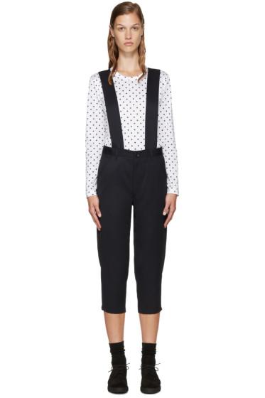 Comme des Garçons Girl - Navy Wool Suspender Trousers