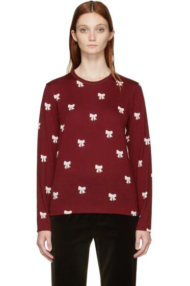 Comme des Garçons Girl - Burgundy Ribbon Pullover