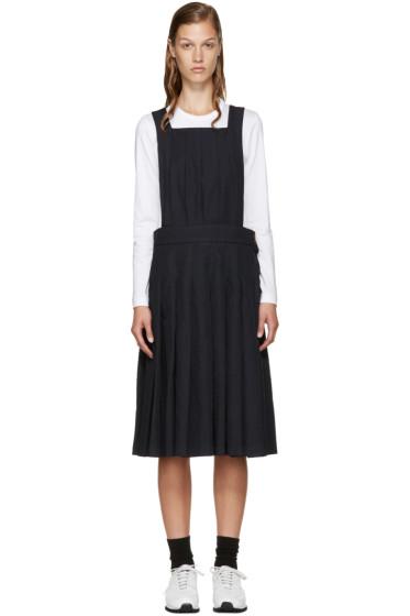 Comme des Garçons Comme des Garçons - Navy Pleated Pinafore Dress