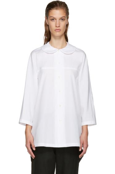 Comme des Garçons Comme des Garçons - White Big Collar Tunic