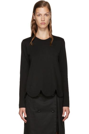 Comme des Garçons Comme des Garçons - Black Scalloped T-Shirt