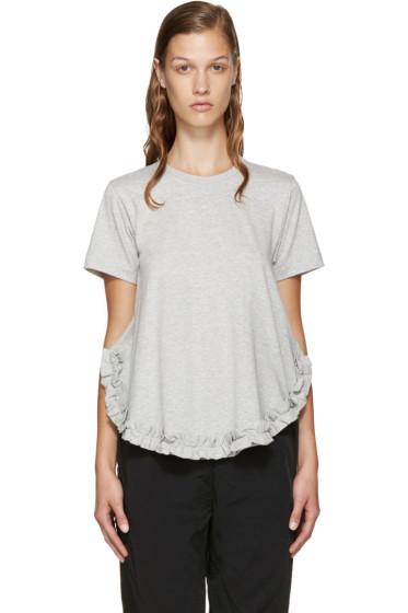 Comme des Garçons Comme des Garçons - Grey Ruffled T-Shirt