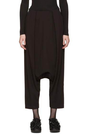 Noir Kei Ninomiya - Black Sarouel Trousers
