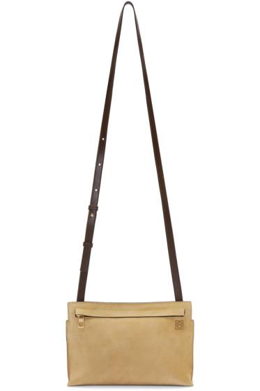 Loewe - Tan Suede Medium T Pouch Bag