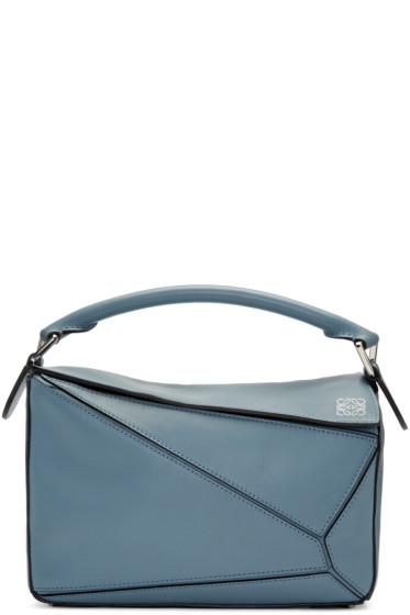 Loewe - Blue Small Puzzle Bag